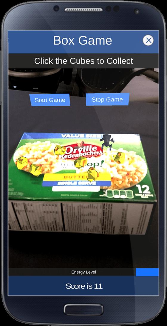 Origin Development - Consumer of the Future Augmented Reality Box Top Game